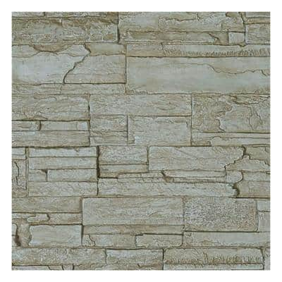 SAMPLE - 1-1/4 in. x 9 in. Sandstone Urethane Cascade Stacked Stone, StoneWall Faux Stone Siding Panel Moulding