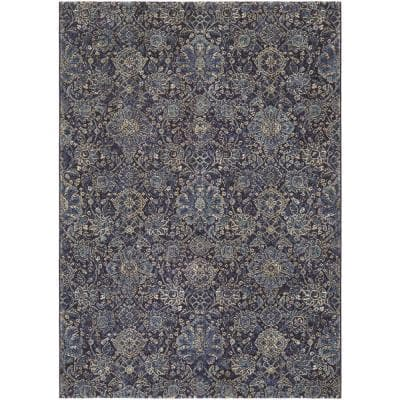 Couristan Easton Winslet Navy Sapphire 8 Ft X 11 Ft Area Rug 63353151710112t The Home Depot