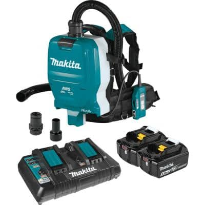 18-Volt X2 LXT Lithium-Ion (36V) Brushless 1/2 Gal. HEPA Filter Backpack Dry Dust Extractor Kit, AWS Capable (5.0 Ah)
