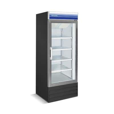 27 in. 13 cu. ft. Commercial Merchandiser Upright Freezer in Black