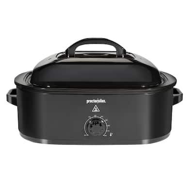 18 Qt. Black Roaster Oven