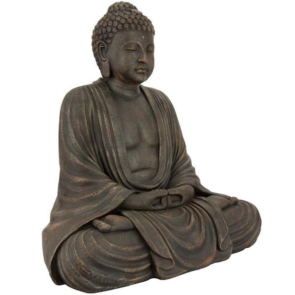 Oriental Furniture - 2.5 ft. Tall Japanese Sitting Buddha Decorative Statue