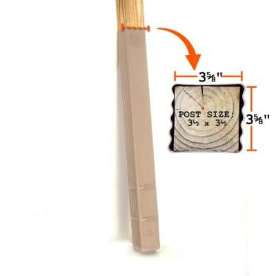 4 in. x 4 in. x 42 in. In-Ground Fence Post Decay Protection