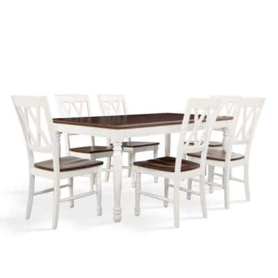 Shelby 7-Piece White Dining Set