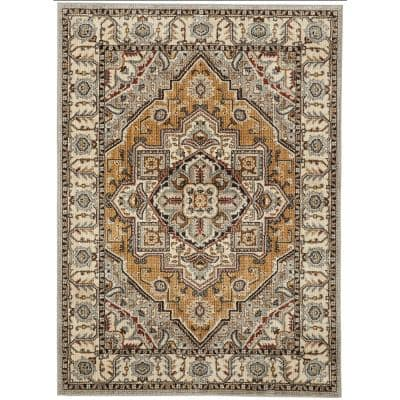 Rene Beige 8 ft. x 10 ft. Area Rug