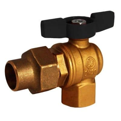 3/4 in. Brass FPT x Flare 1/4 Turn Meter Valve No Lead