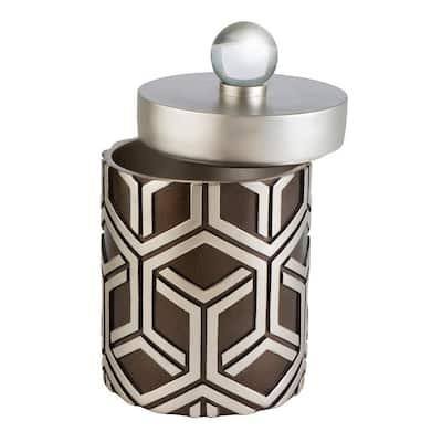Savannah Chestnut Polyresin Decorative Box with Lid