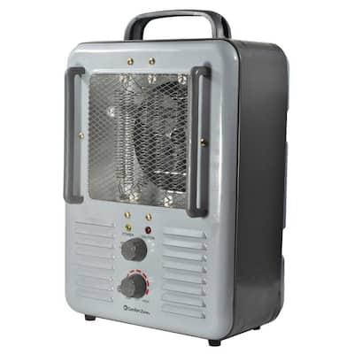 5120 BTU 1500-Watt Milkhouse Style Fan Electric Portable Heater in Gray