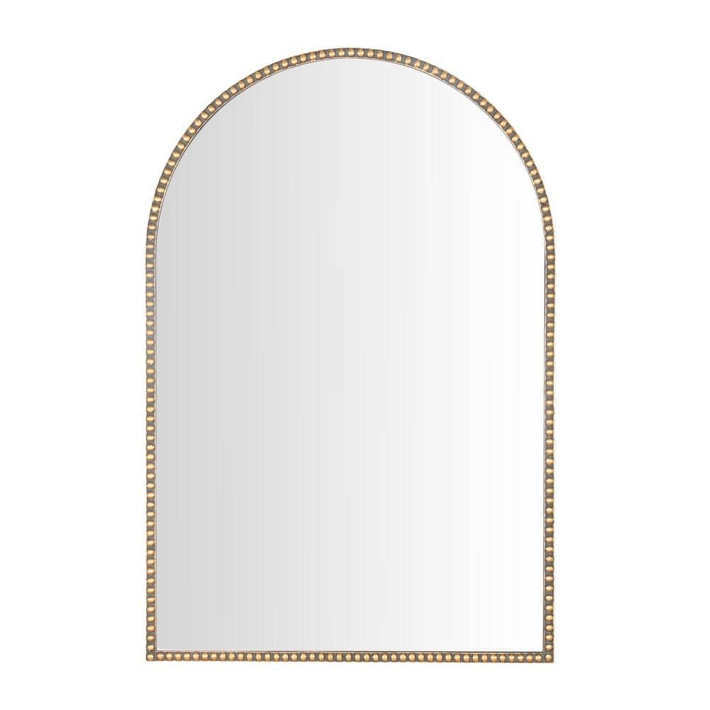 Home Decorators Collection Medium Arched Gold Antiqued Classic Accent Mirror 35 In H X 24 In W H5 Mh 253 The Home Depot