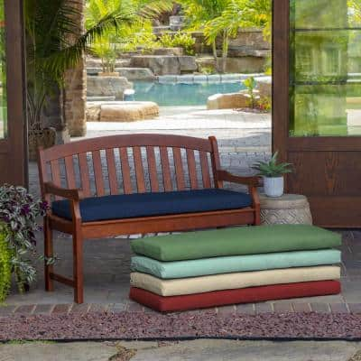 46 x 17 Sapphire Leala Texture Rectangle Outdoor Bench Cushion