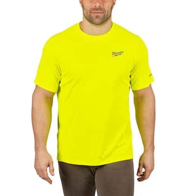 Men's Large Hi-Vis GEN II WORKSKIN Light Weight Performance Short-Sleeve T-Shirt