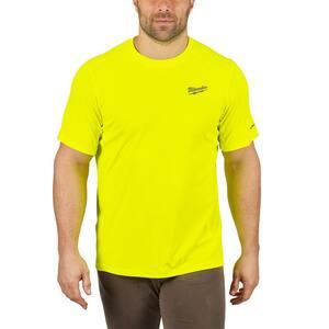 Men's Extra Large Hi-Vis GEN II WORKSKIN Light Weight Performance Short-Sleeve T-Shirt