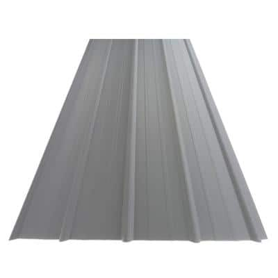 14 ft. SM-Rib Galvalume Steel 29-Gauge Roof/Siding Panel in Gray