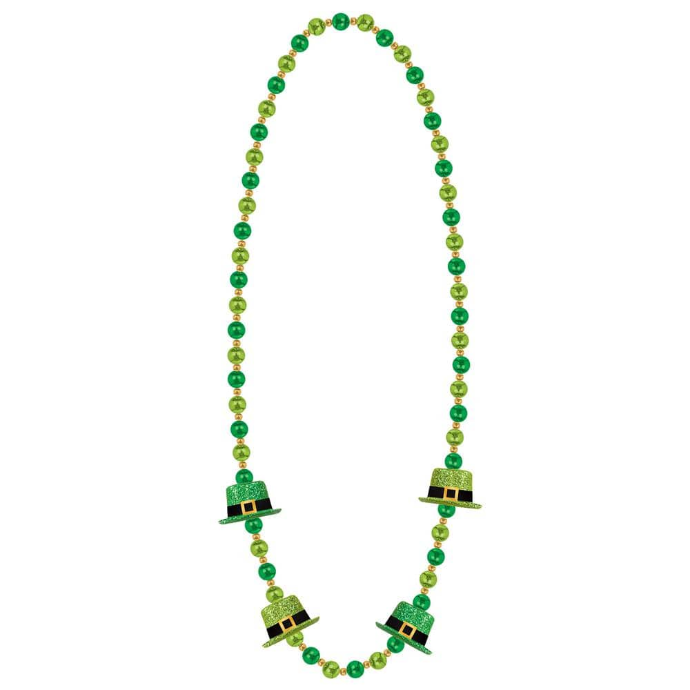 Amscan Leprechaun Hat St Patrick S Day Bead Necklaces 2 Pack 399476 The Home Depot