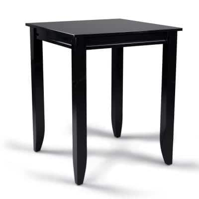 Linear Black High Dining Table