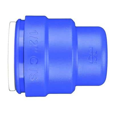 1/2 in. Blue Plastic Push-to-Connect End Cap Fitting (10-Pack)