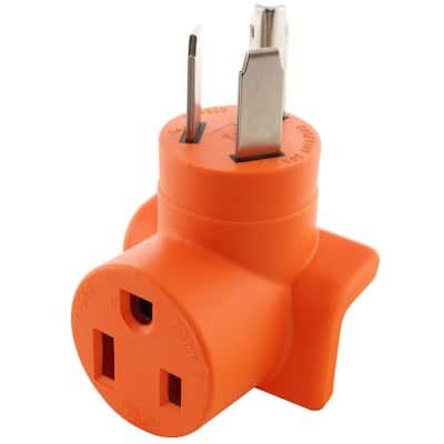 AC Connectors NEMA 10-30 3-Prong Dryer Plug to 6-50 Welder Adapter