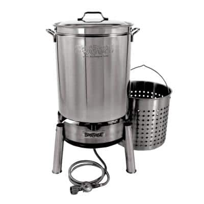 60 Qt. Stainless Steel Boil and Steam Cooker Kit