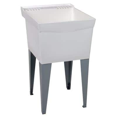 Utilatub 24 in. x 20 in. Structural Thermoplastic Floor-Mount Utility Tub in White