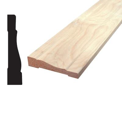 11/16 in. x 3-1/4 in. x 96 in. Knotty Alder Wood Casing Moulding