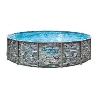 14 ft. Round 42 in. D Above Ground Elite Metal Frame Pool with SFX1000 Skimmer Plus Filter Pump and Accessories