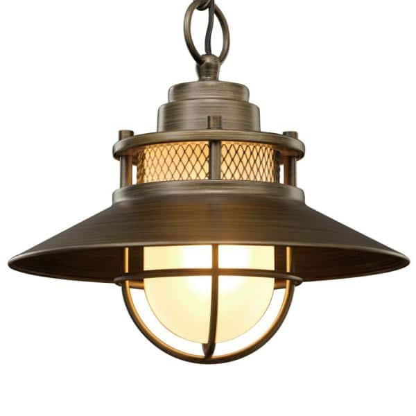 Globe Electric Liam 1 Light Bronze, Globe Electric Outdoor Pendant Light