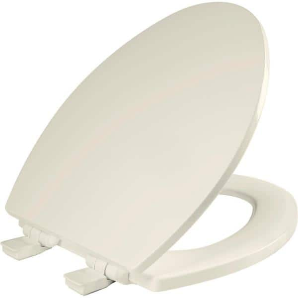 Bemis Atwood Elongated Closed Front Toilet Seat In Biscuit 1560slow 346 The Home Depot