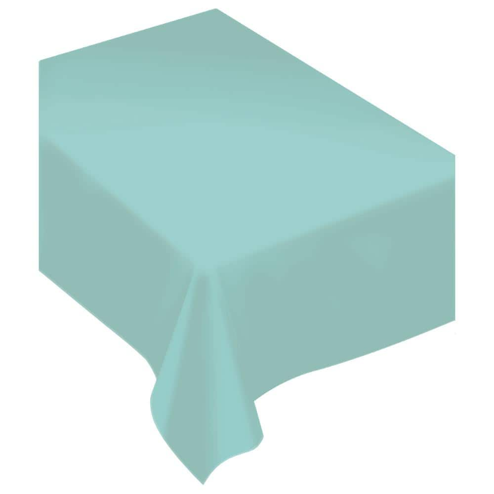 Amscan 80 In X 60 In Robin S Egg Blue Fabric Everyday Table Cover 2 Pack 570069 121 The Home Depot