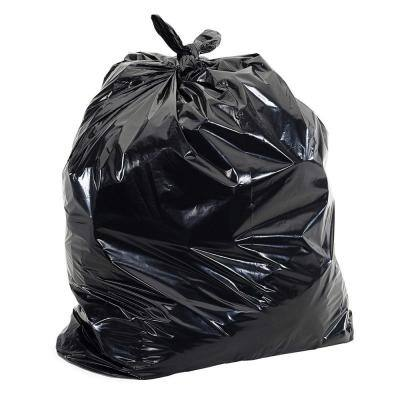 55-60 Gal. Black Trash Bags - 38 in. x 58 in. (Pack of 100) 2 mil (eq) - for Construction and Commercial Use
