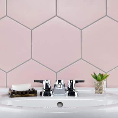 Textile Hex Rose 8-5/8 in. x 9-7/8 in. Porcelain Floor and Wall Tile (11.56 sq. ft. / Case)