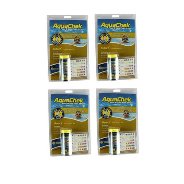 Aquachek Swimming Pool Spa 7 In 1 Test Strips Booklet Log 4 X 541604 The Home Depot