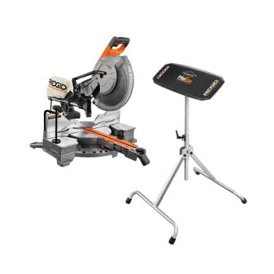 15 Amp Corded 12 in. Dual Bevel Sliding Miter Saw with 70 Deg. Miter Capacity and Flip Top Portable Work Support