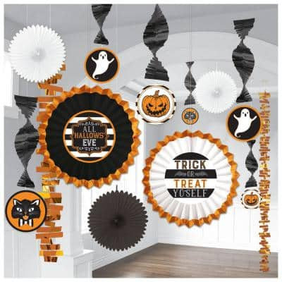 Halloween 16 in. Hallows' Eve Room Decorating Kit (2-Pack)