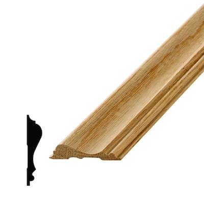WM 390 9/16 in. x 2-5/8 in. x 96 in. Wood Red Oak Chair Rail Moulding