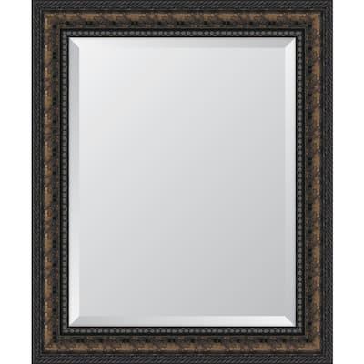 Medium Rectangle Bronze Beveled Glass Classic Mirror (29 in. H x 35 in. W)