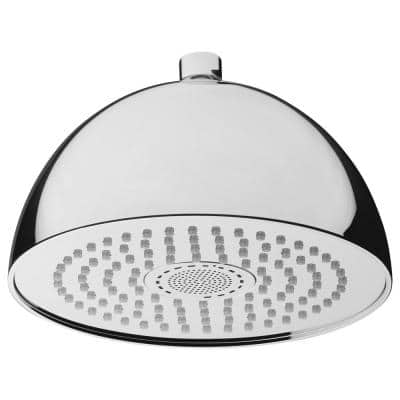 Sound Round 1-Pattern 2.5 GPM 7.87 in. Ceiling Mount Rain Shower Head with Integrated Bluetooth in Chrome