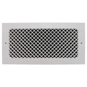 Essex Wall Mount 14 in. x 6 in. Opening, 8 in. x 16 in. Overall Size, Polymer Resin Decorative Return Air Grille, White