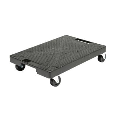 16 in. x 11 in. Multi-Purpose Black Garage Dolly/Caddy