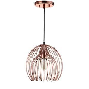 Deena 1-Light Copper Cage Globe Pendant