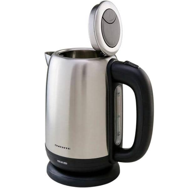 OVENTE 7.1-Cup Stainless Steel Electric Kettle Electric Kettle, BPA-Free, Cordless, Auto Shut-Off