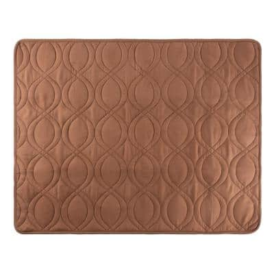 Medium 36 in. x 28 in. Brown Quilted Couch Cover 100% Waterproof Furniture Protector for Pets