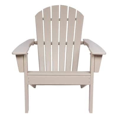 Taupe Gray Seaside Plastic Adirondack Chair