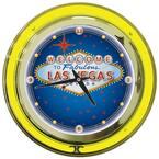 14 in. Las Vegas Neon Wall Clock