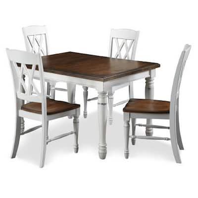 Monarch 5-Piece Oak Rectangular Dining Room Set