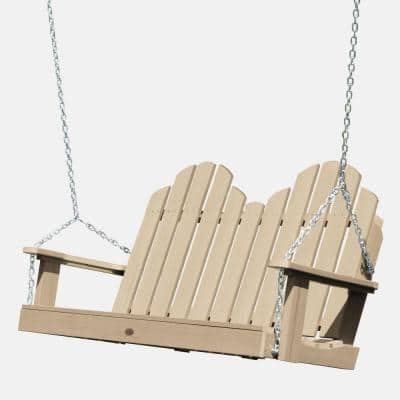 Classic Westport 48 in. Tuscan Taupe Plastic Porch Swing