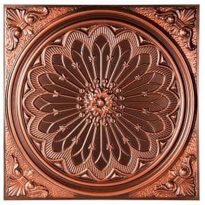 Mission 2 ft. x 2 ft. Lay-in or Glue-up Ceiling Tile in Antique Copper (48 sq. ft. / case)