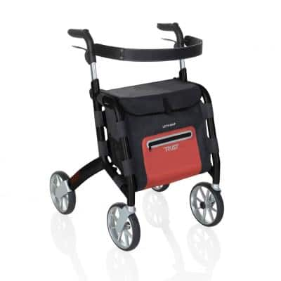 4-Wheels Let's Shop Rollator with in Black