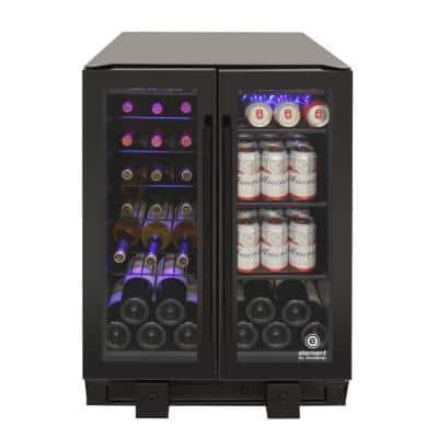 Touch Screen 23.63 in. 24-Bottle Wine and 58-Can Beverage Cooler