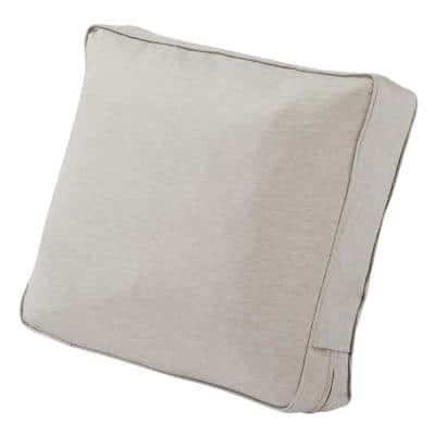 Montlake 25 in. W x 15 in. H x 4 in. T Outdoor Lounge Chair/Loveseat Back Cushion in Heather Grey