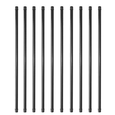 36 in. x 3/4 in. Galvanized Round Baluster with Plastic End Caps (10-Pack)
